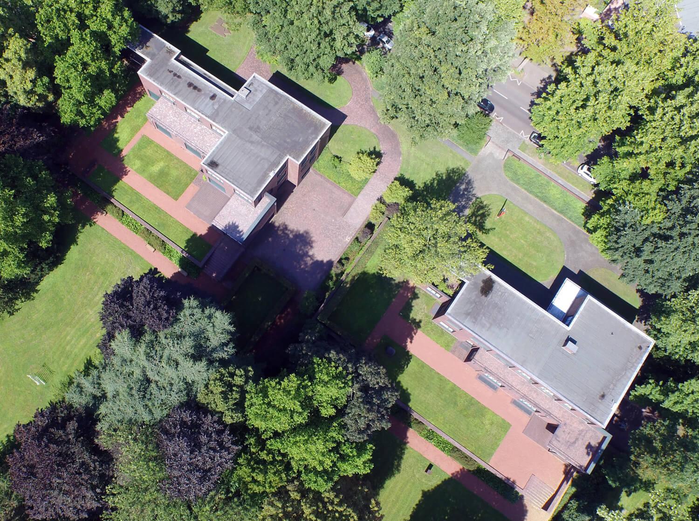 Luftaufnahmen Haus Lange und Haus Esters Krefeld